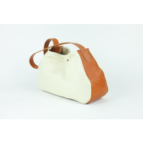Shopping-Bag milch / cognac 00002334-31