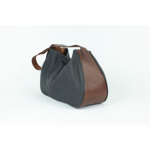 Shopping-Bag schwarz / dunkelbraun 00002331-31